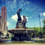 Mary Schenley Fountain.  U Pitt.  A Song to Nature.   Photo by D. Rogers